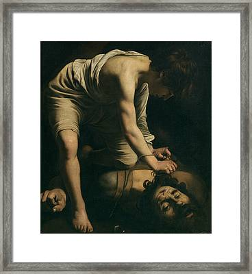 David And Goliath Framed Print by Caravaggio