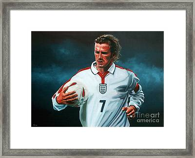 David Beckham Framed Print by Paul Meijering