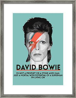 David Bowie 3 Framed Print by Semih Yurdabak