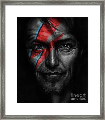David Bowie Framed Print by Andre Koekemoer