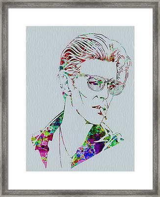 David Bowie Framed Print by Naxart Studio