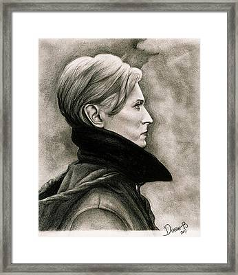 David Bowie - Low Framed Print by Dianah B
