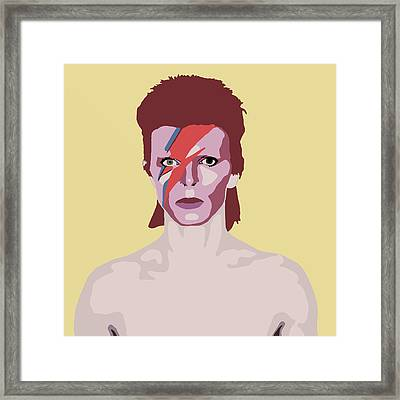 David Bowie Framed Print by Nicole Wilson