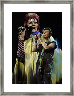 David Bowie  Performance  Framed Print by Iconic Images Art Gallery David Pucciarelli