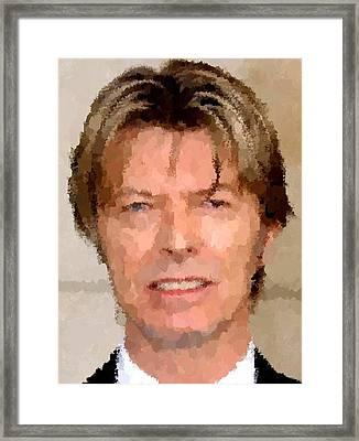 David Bowie Portrait Framed Print by Samuel Majcen