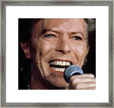 David Bowie Framed Print by Samuel Majcen
