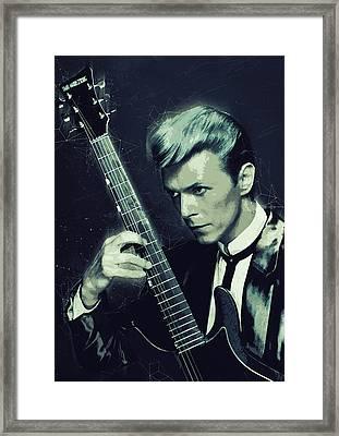 David Bowie Framed Print by Semih Yurdabak