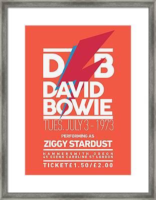 David Bowie Ticket Framed Print by Semih Yurdabak