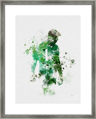 David De Gea Framed Print by Rebecca Jenkins