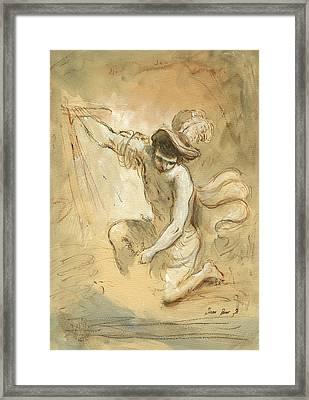 David Figure Drawing Framed Print by Juan Bosco