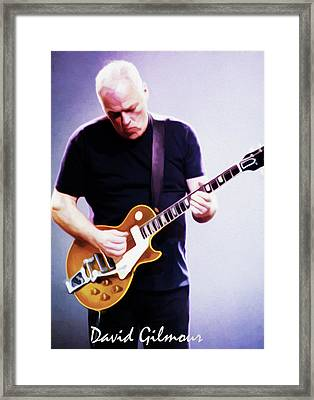 David Gilmour By Nixo Framed Print by Nicholas Nixo