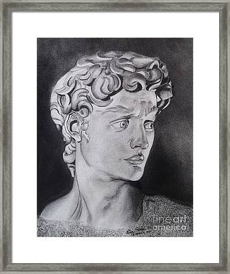 David In Pencil Framed Print by Lise PICHE