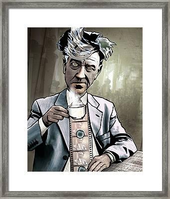 David Lynch - Strange Brew Framed Print by Sam Kirk