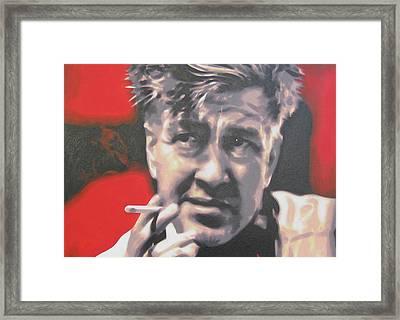 David Lynch Framed Print by Luis Ludzska