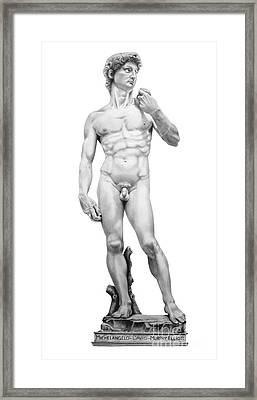 David-michelangelo Framed Print by Murphy Elliott
