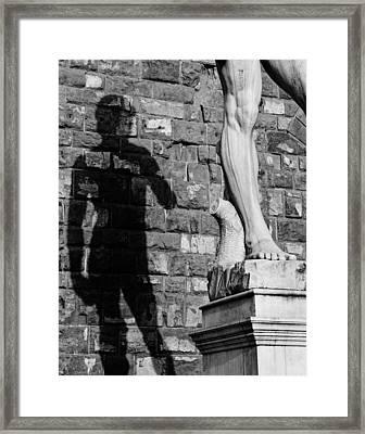 David Framed Print by Mick Burkey