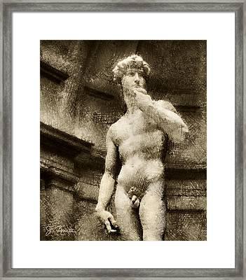 David No. 2 Framed Print by Joe Bonita