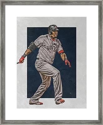 David Ortiz Boston Red Sox Art 2 Framed Print by Joe Hamilton