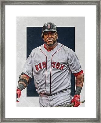 David Ortiz Boston Red Sox Art Framed Print by Joe Hamilton