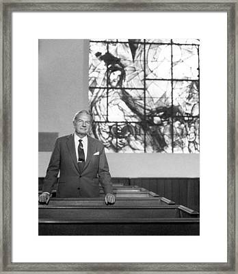 David Rockefeller Comments On Chagall Framed Print by Everett