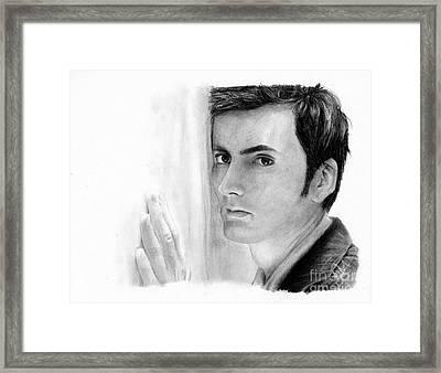 David Tennant 2 Framed Print by Rosalinda Markle