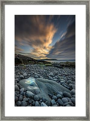 Dawn At Boulder Beach Framed Print by Rick Berk