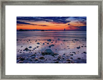 Dawn At Orient Point Framed Print by Rick Berk
