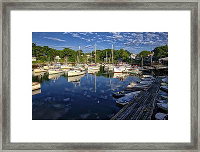 Dawn At Perkins Cove - Maine Framed Print by Steven Ralser