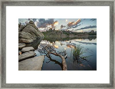 Dawn At Sylvan Lake Framed Print by Adam Romanowicz