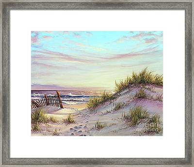 Dawn At The Beach Framed Print by Joe Mandrick