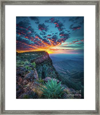 Dawn In The Chisos Framed Print by Inge Johnsson