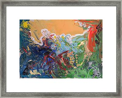 Dawn In The Forest Framed Print by Bachmors Artist