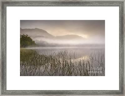 Dawn Mist - Loch Achray 1 Framed Print by Rod McLean