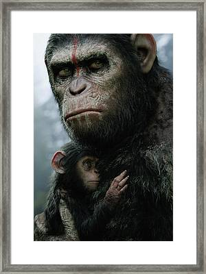 Dawn Of The Planet Of The Apes Framed Print by Caio Caldas
