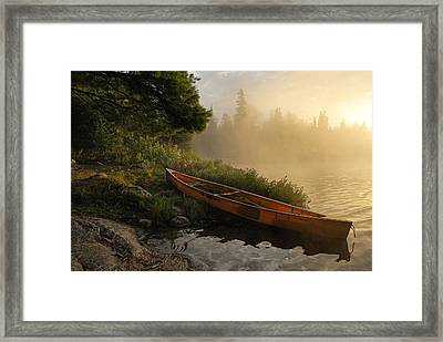 Dawn On Boot Lake Framed Print by Larry Ricker