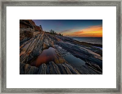 Dawn Over Pemaquid Point Framed Print by Rick Berk