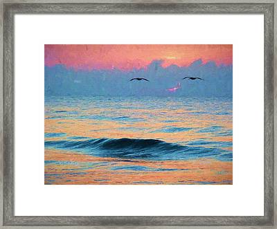 Dawn Patrol Framed Print by JC Findley