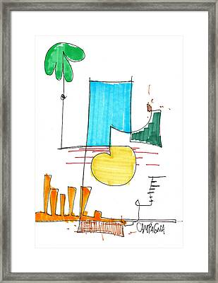 Day At The Beach Framed Print by Teddy Campagna