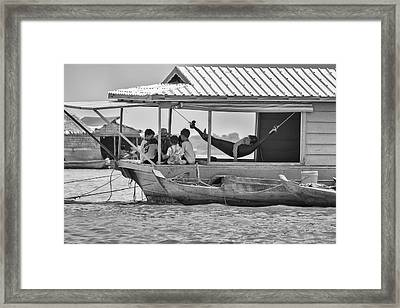 Day Care On The Lake Framed Print by Georgia Fowler