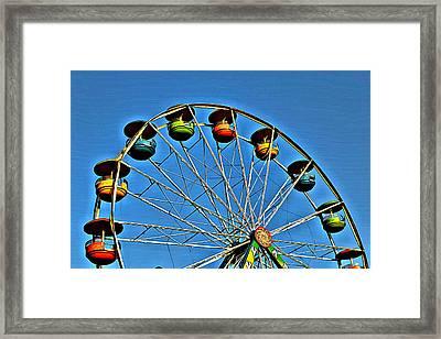 Day Ferris Framed Print by Judy Bernier