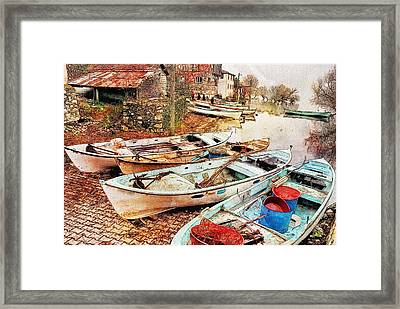 Day Of Fishing Over Framed Print by Ericamaxine Price