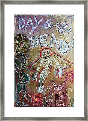 Day Of The Dead - Ascension Framed Print by Laura Barbosa