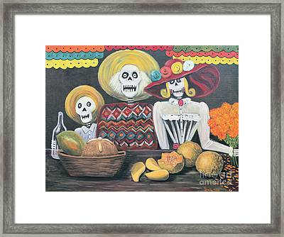 Day Of The Dead Family Framed Print by Sonia Flores Ruiz