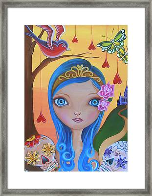 Day Of The Dead Princess Framed Print by Jaz Higgins