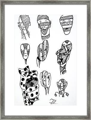 Day13965 Self Portrait Framed Print by Pearse Gilmore