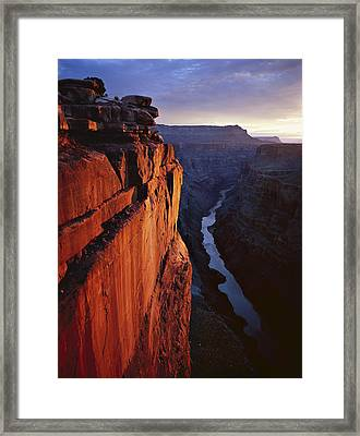 Sunrise At Toroweap Framed Print by Mike Buchheit