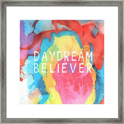 Daydream Believer- Abstract Art By Linda Woods Framed Print by Linda Woods