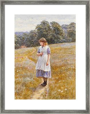 Daydreamer Framed Print by Helen Allingham