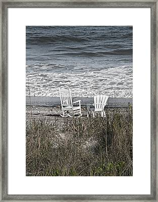 Daydreaming By The Sea  Framed Print by Betsy C Knapp