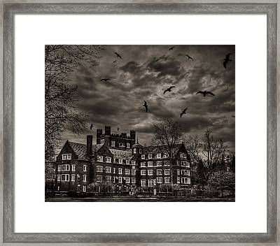 Daydreams Darken Into Nightmares Framed Print by Evelina Kremsdorf